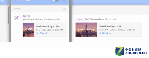 谷歌宣布为Inbox加入Highlights功能 让邮件日程事项动起来