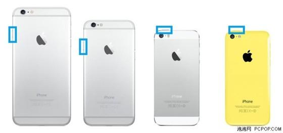苹果在iphone6以及6  plus之前一直将锁屏按键设计在手机的顶部右侧