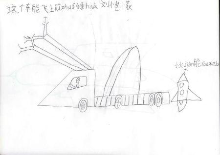 科技时代_青少年创意设计大赛作品:绿化飞车