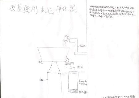 青少年创意设计大赛作品:反复使用水池净化器