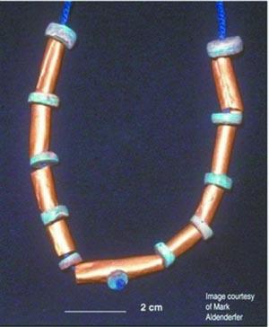 科技时代_南美洲发现4000年前黄金项链(图)