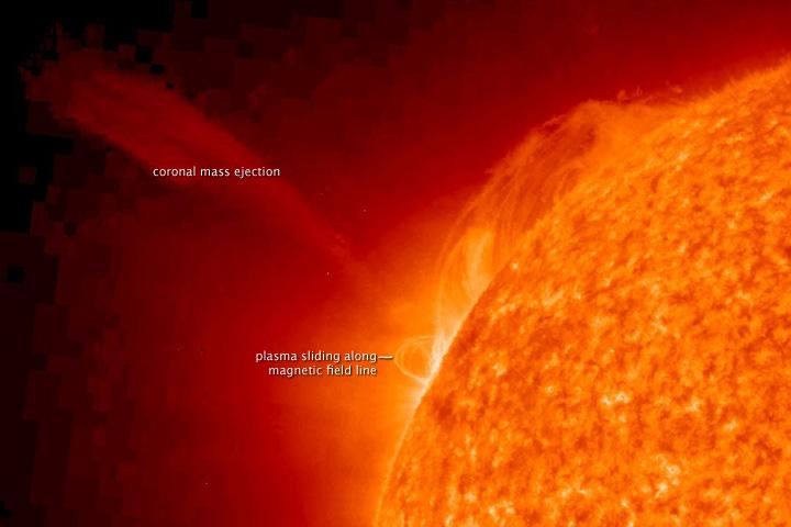 科技时代_美探测器拍到太阳喷发时速161万公里(组图)