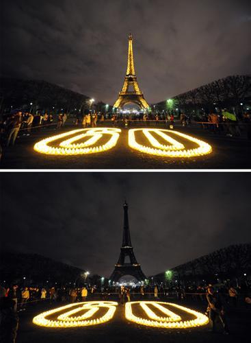 科技时代_图文:巴黎埃菲尔铁塔参与地球一小时