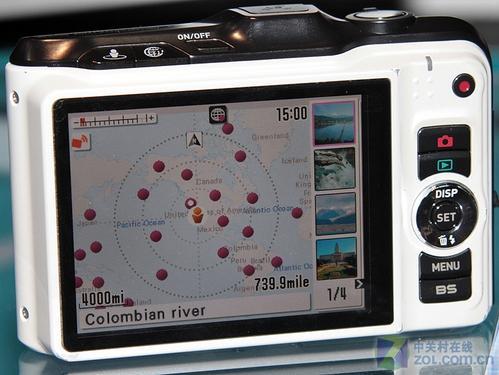 卡西欧GPS数码相机室内都可以定位照片