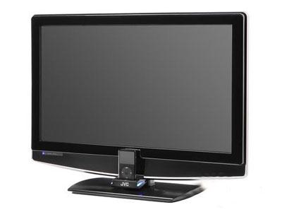 科技时代_CES2008:JVC展示带iPod基座液晶电视