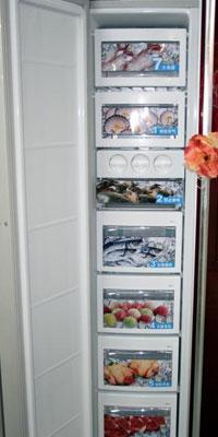 红色中国风设计LG带吧台对门冰箱热销