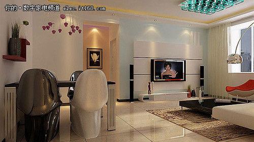 电视背景墙简约风格_木工做电视墙造型图片