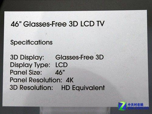 裸眼3D效果棒索尼展示4K液晶电视新品