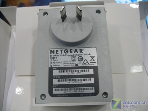 电线上网 NETGEAR电力线以太网交换机_硬件