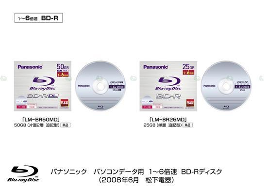 松下推出首张6XBD-R碟片