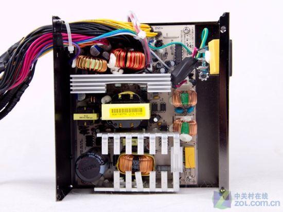 """电源内部结构;; 固态电容""""护驾"""" 长城新400w电源评测; 长城400w;"""