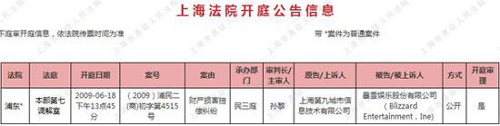 科技时代_第九城市在上海起诉暴雪要求赔偿