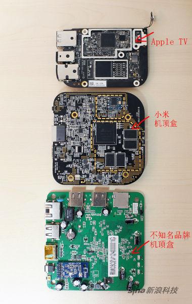从此次泄露的图片看,小米机顶盒较Apple TV略大,制作工艺较市售机顶盒做工更为精致。
