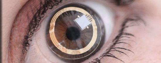 这种智能眼镜可以像隐形眼镜一样覆盖在眼球上