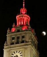 美国芝加哥上空的月全食