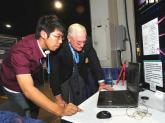 贝瑞特与中国学生交流