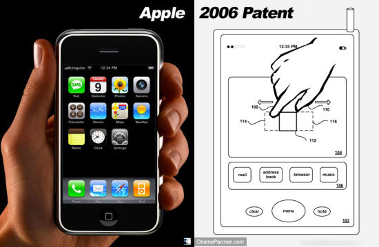 """苹果""""捏拉缩放""""专利"""