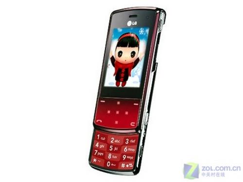 红色超薄魅力LG触控滑盖新机KF510上市