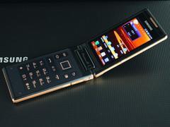 霸气翻盖手机金色三星W899即将跌破万元