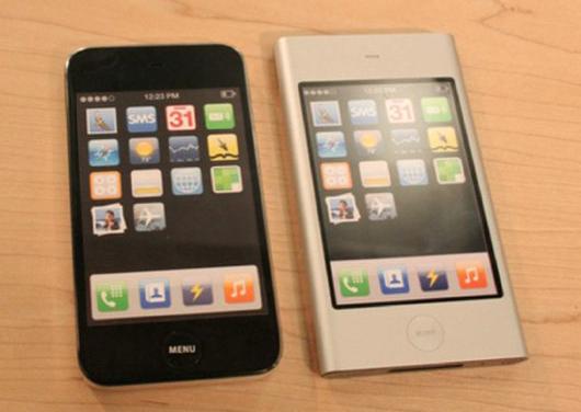 图为苹果和三星诉讼官司中曝出的iPhone mini原型机