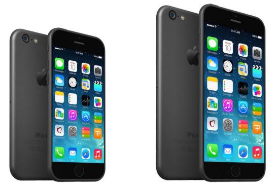 两个尺寸版本iPhone 6猜想效果图
