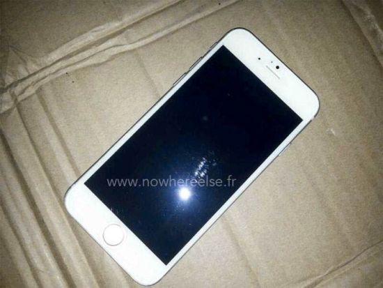 iPhone 6白色版正面与之前曝光图片一致,风格与5s相近