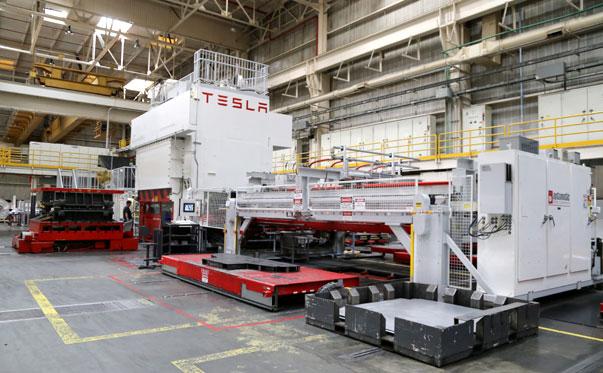 特斯拉位于加州Fremont的生产工厂
