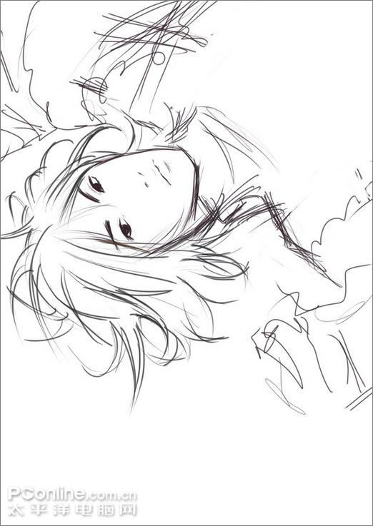 Painter绘制忧郁帅气的王子插画