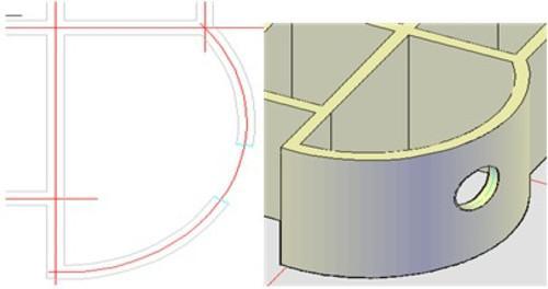 欧式拱形墙面装饰cad