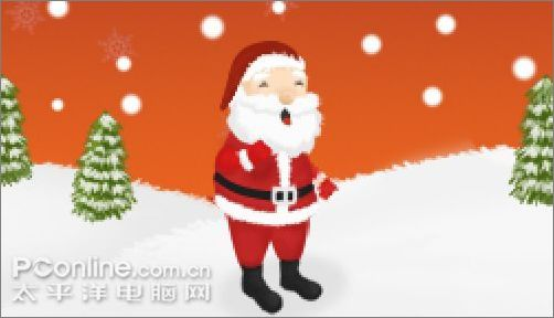 上色后作为人物的简单阴影-photoshop实例教程 打造圣诞贺卡