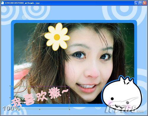 使用彩影2008制作个性贴纸和照片相框(3)