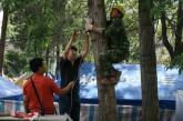 联通技术人员在青川抢通通信