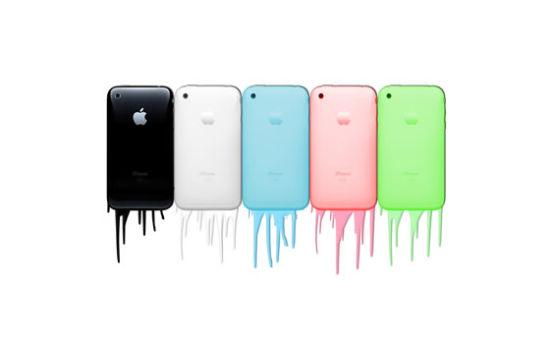 传iPhone将追随iPod touch的路线,提供多种颜色。(图为网友制作效果图)