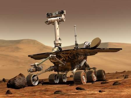 火星车漫游整四年有望目睹小行星撞火星(图)