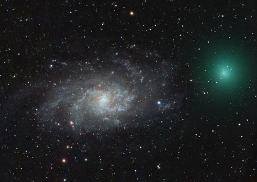 图文:07年12月30日美国洛杉矶出现的塔特尔彗星