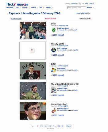 美国网民恶搞微软收购雅虎(组图)