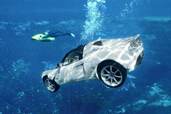 瑞士公司推出世界首辆潜水汽车(组图)