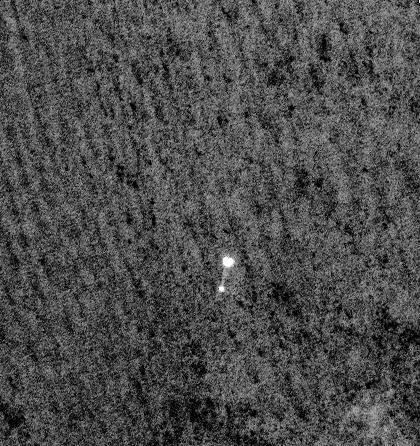 组图:美火星勘测卫星拍到凤凰号登陆过程