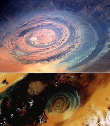 地球十大地貌奇观:撒哈拉之眼与赤水丹霞