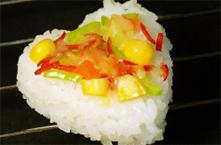 心形起司米饭批萨(图)