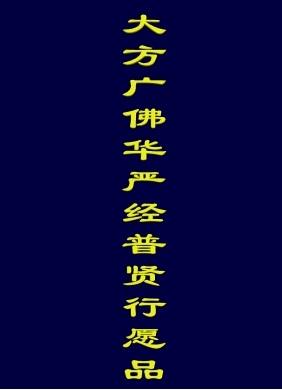 普贤菩萨十大愿王