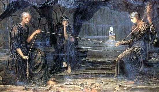 《A Golden Thread》John Melhuish Strudwick 1885年绘