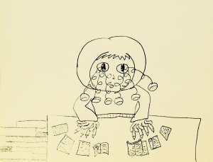 8岁女孩用漫画描述繁重的学习压力图