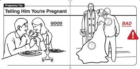 选择合适的时机告诉你的爱人,你怀孕了。