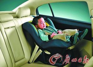 儿童安全坐椅应设在后座上