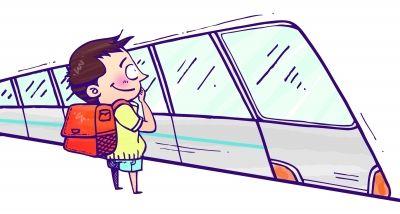 男生5年来自乘地铁上学