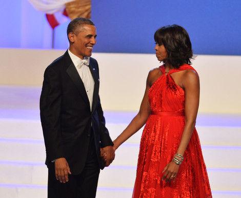 美国总统巴拉克・奥巴马夫妇