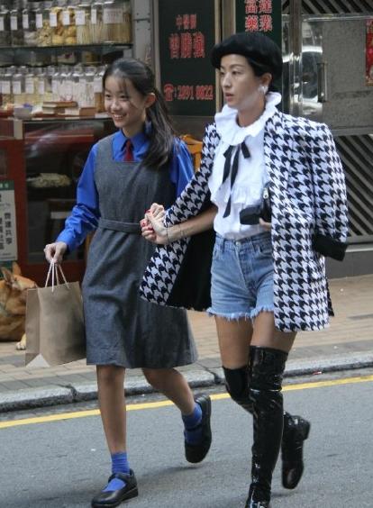 徐濠萦和女儿