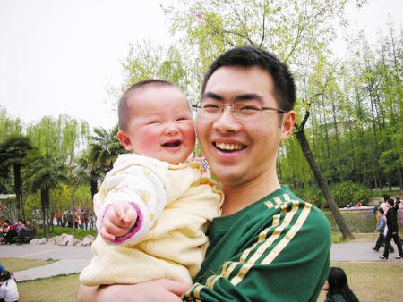 儿子的笑容让我最满足