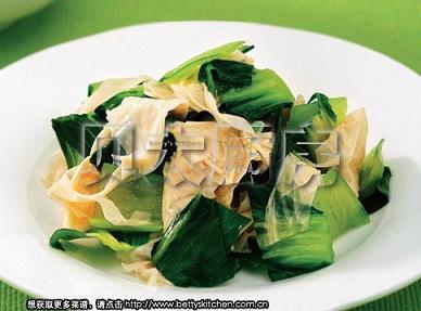 1�q����食�V:豆皮炒青菜